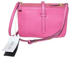 98721dc9a02e Annabel Ingall Jojo Hot Pink Leather Cross Body Bag - Tradesy Pink Leather