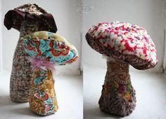 fabric mushrooms... so cute!