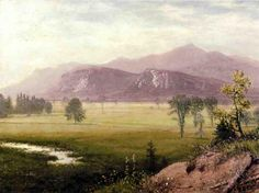 Albert Bierstadt - Conway Meadows New Hampshire: The Art in Pixels - Online Art Gallery