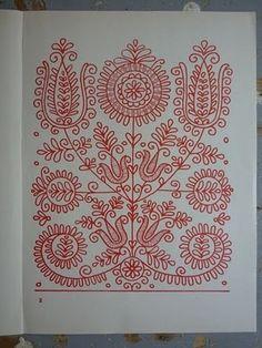 parna vintage linen and hemp: Hungarian Embroidery (2) Kalotaszeg, kalotaszegi párna hímzés