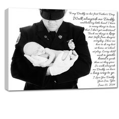 {gift for dad}  Memorial day photo and word art custom canvas by Geezees (military family)