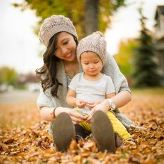 """Crochet matching mommy & toddler """"Cabled Slouchy Beanies"""" with my detailed tutorial & free patterns! Cabling is possible in crochet!"""