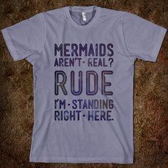 are mermaids real | Mermaids Are Real - Galaxy Cats - Skreened T-shirts, Organic Shirts ...
