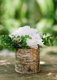 Rustic Wedding Decorations Birch Cylinder Vase Tall x Diameter Rustic Centerpieces, Wedding Centerpieces, Wedding Bouquets, Wedding Flowers, Centerpiece Ideas, Diy Flowers, Hydrangea Centerpieces, Rustic Vases, Centerpiece Flowers