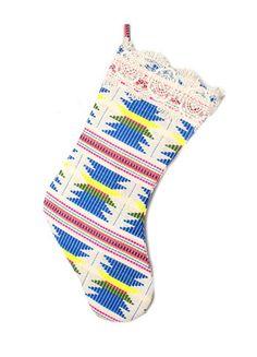 Judith March Aztec Jacquard Christmas Stocking (Blue Multi) – DejaVu