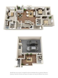 apartment floor plans 3 and 4 Bedroom Floor Plans Sims House Plans, House Layout Plans, Modern House Plans, House Layouts, House Floor Plans, Apartment Floor Plans, Bedroom Floor Plans, Luxury Floor Plans, 3d Home