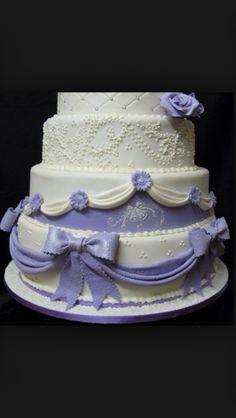 Purple bows and beautiful lace