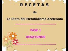 Dieta del Metabolismo Acelerado - Recetas - Desayunos Fase 1 - YouTube Menu Dieta, Keto, 2 Months, How To Plan, Healthy, Hollywood, Fitness, Kitchen, Youtube