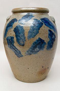 "Early Pre Civil War 5 Gallon Zanesville, Ohio Area ""Ovoid Tornado Jar""...circa 1840-1860 in superb condition and rarely ever seen in the antiques market."