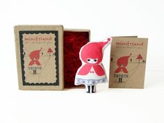 Cotton Message Doll - Minifriend Red Riding Hood £8.50