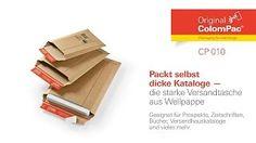 Starke #Versandtaschen CP 010 aus Wellpappe von #ColomPac®.• #Dinkhauser Kartonagen Vertriebs GmbH, #Selbstklebeverschluss, #Aufreißfaden, #Versandverpackung, #Wellpappe