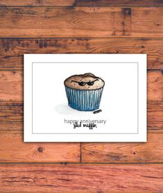 Printable Anniversary Card for Him, Stud Muffin, Funny Anniversary Card, Husband, Boyfriend, Baker, Anniversary Card, Download, Printable