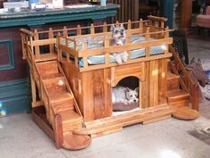 Greatest dog house ever! OMG this would be part of my Living Room decor if my… Greatest dog house ever! OMG this would be part of my Living Room decor if my husband had his way. Just for MIMI! Pallet Dog House, Dog House Bed, Dog Bed, Puppy House, Positive Dog Training, Basic Dog Training, Training Dogs, Diy Pour Chien, Niche Chat