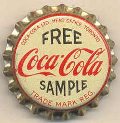 My grandfather used to own Worcester Minerals and when Coca Cola was first brought to South Africa, bottles of Coke were given out free to attract new customers.