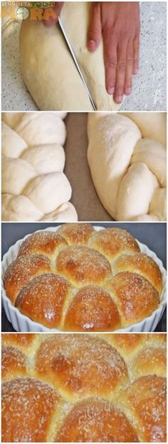 Hot Dog Recipes, Bread Recipes, Cooking Recipes, Brazillian Food, Bread Cake, Portuguese Recipes, Sweet Bread, No Bake Desserts, Hot Dog Buns