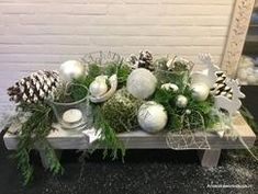Kerst tafelreeltje ... Tafeltje opgemaakt met kerst decoratie ... leuk en eenvoudig gemaakt !