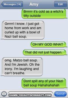 funny auto-correct texts - 15 Most Popular Autocorrects From February 2011