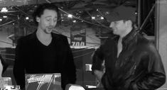 (GIF) Chris Evans honks Tom Hiddleston.