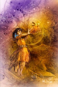 American Indian Art, Native American Indians, Shades Of Purple, Purple Gold, Where The Sidewalk Ends, Gold Background, White Clouds, Fairy Land, Fairy Tales