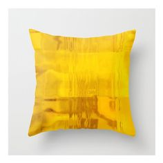 Pillow Cover Sunrise Yellow Abstract Fine Art by LovesParisStudio, $40.00