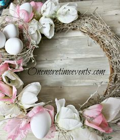 Spring Tulip wreath at One More Time Events.com