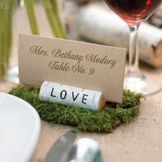 Rustic Love Place Card Holder Pack Of 6