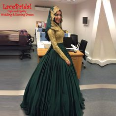 Find More Evening Dresses Information about Modest Emerald Green and Gold Muslim Ball Gown Beaded Lace Long Sleeve Evening Dresses 2016 Caftan Dubai Party Prom Gowns GE6,High Quality dress spaghetti,China dress ball gown Suppliers, Cheap gown manufacturers from LaceBridal on Aliexpress.com