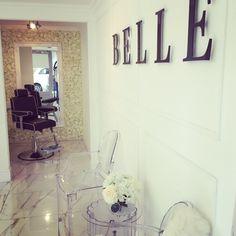 #salon #beauty #flower #wall #feature #mirror