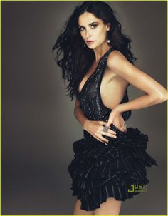 Demi Moore by Annie Leibovitz in Balmain Spring 2010. This woman gets more and more beautiful by the minute!