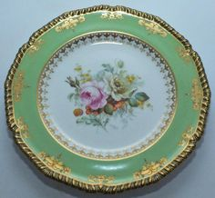 RARE PORCELAIN ROYAL CROWN DERBY CABINET PLATE 1907 signed by Albert Gregory