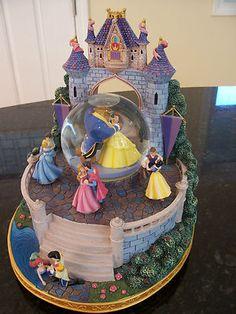 "RARE Disney Princess Royal Ball Large Musical Snowglobe Plays ""Once Upon A Dream | eBay"