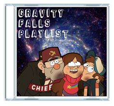 """Gravity Falls Playlist by timeladylibrarian"" by timeladylibrarian ❤ liked on Polyvore featuring art"