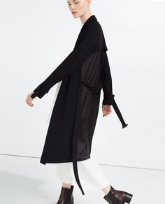 Image 4 of CONTRAST TRENCH COAT from Zara