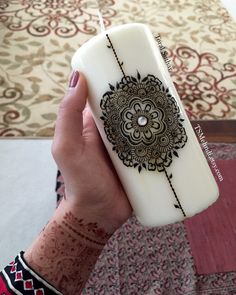 Flower Mandala Candle by TSMehndi on Etsy