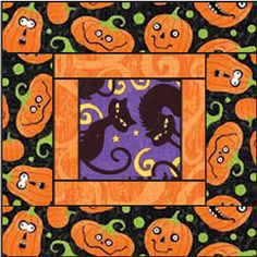 I love Halloween and the simple square pattern Triple Square ~ McCalls Quilting patterns