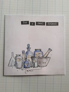 For A Real Friend  Square Greeting Card  Science by unusuality