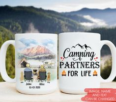 Camping Partners For Life Happy Campers Personalized Coffee Mugs