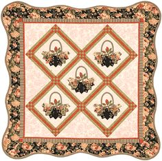 Love this!!!  Dresden BASKETS! Also love this scallop edge.  Quilt in a Day scallop ruler works great for this border.