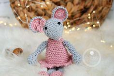 crochet mouse, crochet amirugumi free pattern