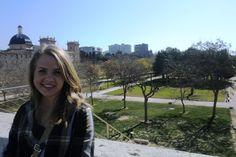 Student Caitlin Baker in Valencia, Spain.
