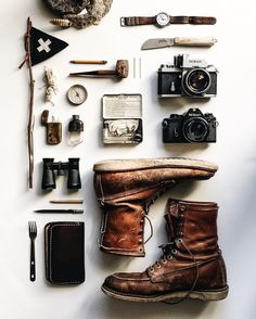 BOOTS, CAMERAS, HIP FLASK... LETS GO