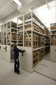 Oversize collections with mobile shelving