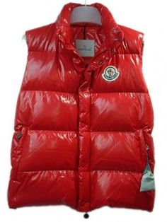 Moncler Men Vest Sleeveless - Quilted Warmer Body Red http://www.onlakemac.com/moncler-vests-men.html