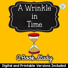 A Wrinkle in Time Novel Study Digital and Printable. There are tons of activities included in this novel study for A Wrinkle in Time that will help to develop comprehension in students from grade Reading Resources, Classroom Resources, Grade 3, Third Grade, Creative Teaching, Teaching Ideas, A Wrinkle In Time, Math Task Cards, Mobile Learning