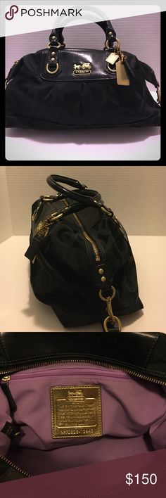 Authentic Coach tonal black large C logo satchel Authentic Coach tonal black large C logo satchel . Like new no signs of wear and tear.         Cross listed. Coach Bags Satchels