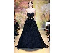 سيدتي مول - فستان طويل رائع باللون الشمّامي من زهير مراد Zuhair Murad