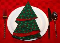 christmas tree napkins...make placemats to go with?