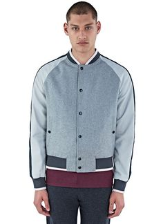 Men's Jackets - Clothing | Find more at LN-CC - Felted Baseball Bomber Jacket