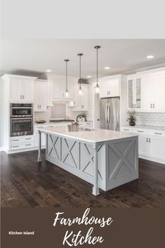 Looking for for inspiration for farmhouse kitchen? Browse around this website for unique farmhouse kitchen images. This unique farmhouse kitchen ideas appears to be amazing. Classic Kitchen, Modern Kitchen Island, Smart Kitchen, Modern Farmhouse Kitchens, Farmhouse Kitchen Decor, Home Decor Kitchen, New Kitchen, Cool Kitchens, Kitchen Ideas