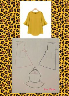 Sewing blouse diy 49 ideas Effective Pictures We Offer You About Women Blouse for party A quality picture can tell you many things. You can find the most beautiful pictures that can be presented to you about Women Blouse cott Dress Sewing Patterns, Blouse Patterns, Clothing Patterns, Blouse Designs, Fashion Pattern, Sewing Blouses, Blog Couture, Diy Dress, Dress Ideas